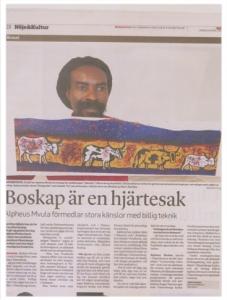 Alfeus featured in a Swedish Newspaper