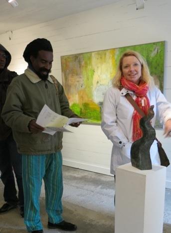 Alfeus and Ulrika covering many art studios outside Vänersborg