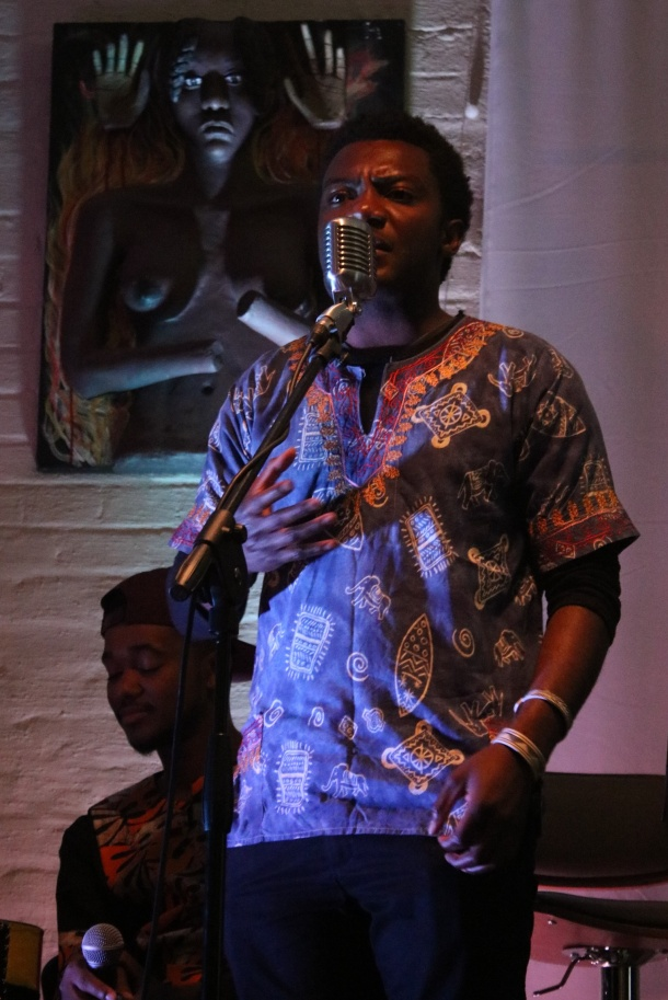 Fellemon Handuukeme Ndongo's spoken word piece at the performance.